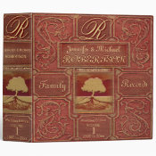 Custom Family Tree | Antique Leather Book Look Binder (<em>$24.15</em>)