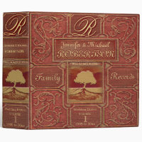 Custom Family Tree | Antique Leather Book Look Binder