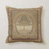 Custom Family Tree Artwork Throw Pillow (<em>$36.35</em>)