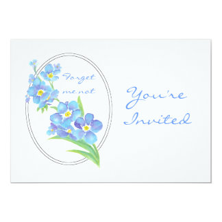 Custom Farewell Party Invite Forget Me Not Flower