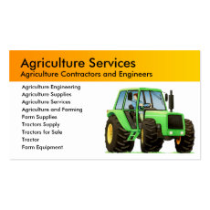 Custom Farm Agricultural Contractor Business Card