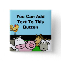 Custom Farm Animals Button