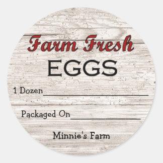 Custom Farm Fresh Eggs Sticker