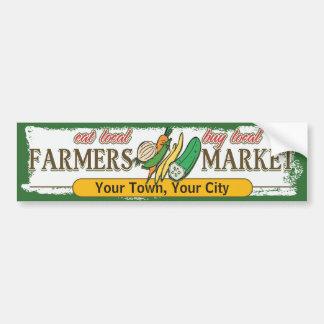 Custom Farmers Market Vegetables Bumper Sticker