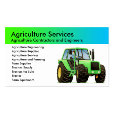 Custom Farming and Agriculture Business Card