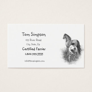 Custom Farrier Horse Business Card