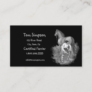 Farrier business cards templates zazzle custom farrier horse business card colourmoves