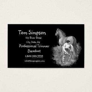 Custom Farrier or Trimmer Horse Business Card