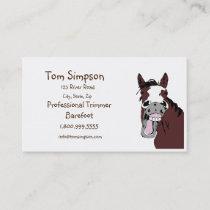 Custom Farrier Trimmer Happy Horse Business Card