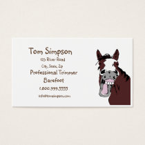 Custom Farrier Trimmer Happy Horse Business Card