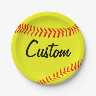 Custom Fastpitch Softball Paper Plates
