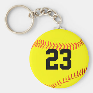 Custom Fastpitch Softball Player Number or Initial Keychain