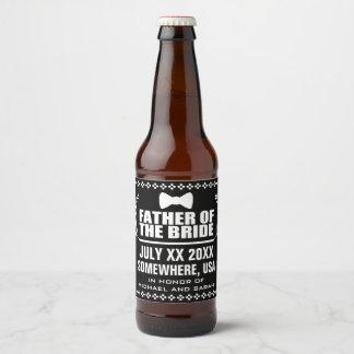 Custom Father of the Bride Beer Bottle Label