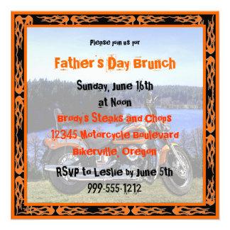 Custom Father s Day Brunch Invites Biker Design