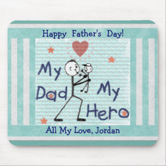 Custom Father s Day Dad My Hero Mousepad