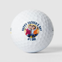 Custom Father's Day #1 Dad Family Photo Golf Balls
