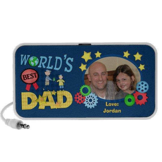 Custom Father's Day Best Dad Doodle Speaker