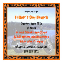 Custom Father's Day Brunch Invites (Biker Design)