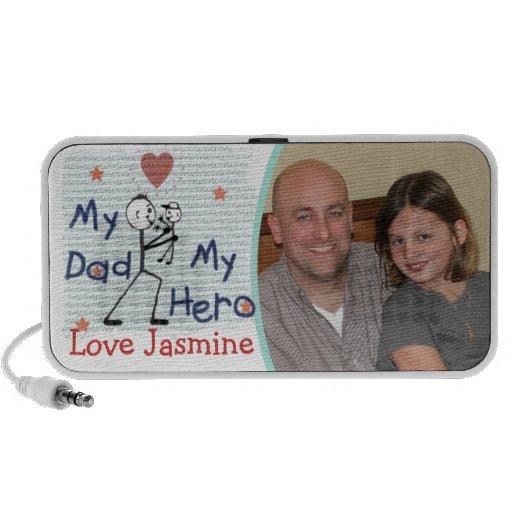 Custom Father's Day Dad Hero Doodle Mini Speaker