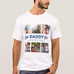 """Custom Father's Day Photo Collage Best Daddy Ever T-Shirt<br><div class=""""desc"""">Create a great Father's Day gift for a beloved dad this year with this six photo collage T-shirt. With 'Best Daddy Ever' in a combination of script and modern sans serif typography, with your custom message and children's names overlaid. Although this was designed for Father's Day the message can be...</div>"""