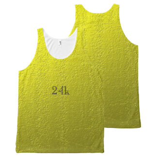 Custom Faux 24k Solid Gold All-Over Print Tank Top