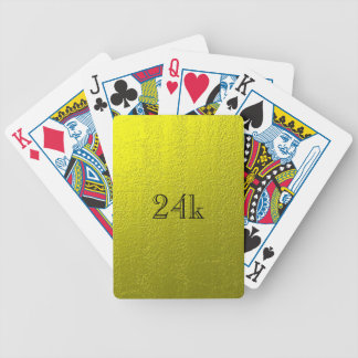 Custom Faux 24k Solid Gold Bicycle Playing Cards