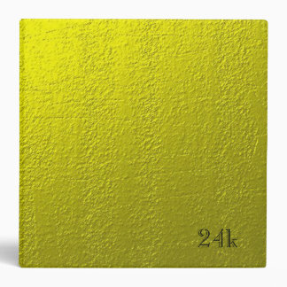 Custom Faux 24k Solid Gold Binder