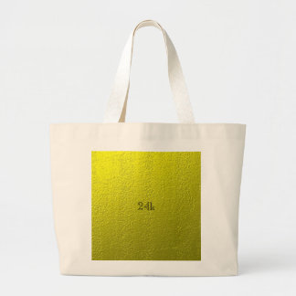 Custom Faux 24k Solid Gold Large Tote Bag