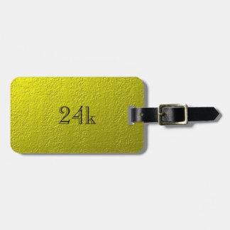 Custom Faux 24k Solid Gold Luggage Tag