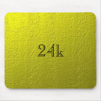 Custom Faux 24k Solid Gold Mouse Pad