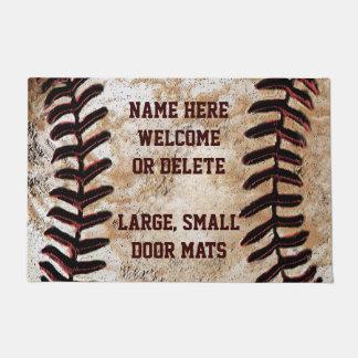 Custom Faux Vintage Baseball Welcome Mat
