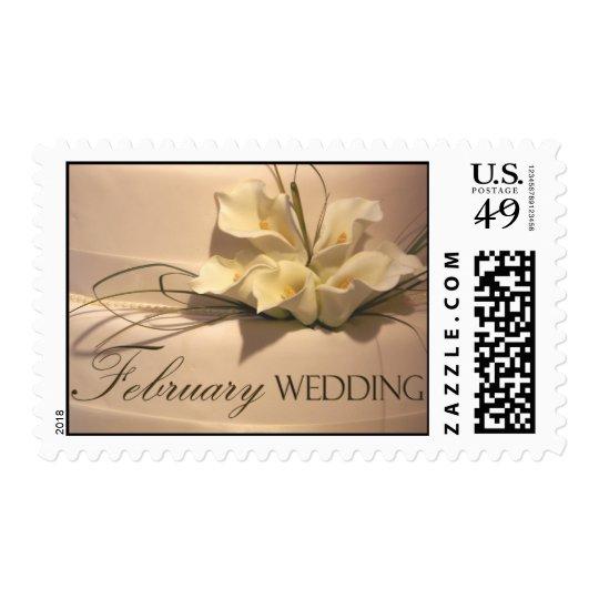 Custom February Calla Lily Wedding Cake Postage
