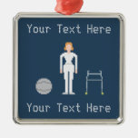 Custom Female Physical Therapy Metal Ornament