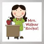 Custom Female Teacher Poster