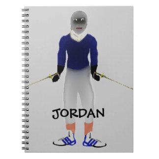 Custom Fencing Cartoon Notebook