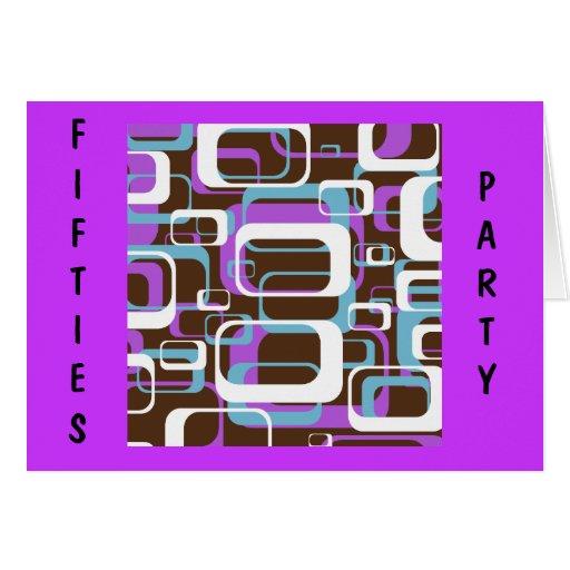 Custom Fifties Retro Party Invitation
