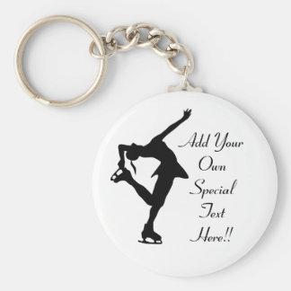 Custom Figure Skater Gifts Keychain