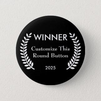 Custom Film Festival Winner Laurels Button Pin
