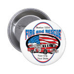 Custom Fire and Rescue 2 Inch Round Button
