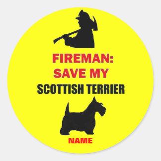 Custom Fire Safety Scottish Terrier Sticker