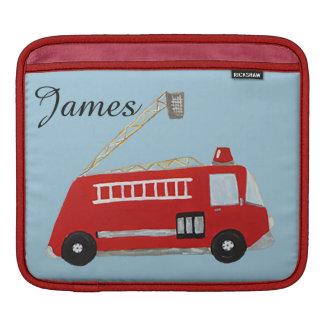 Custom fire truck iPad sleeve