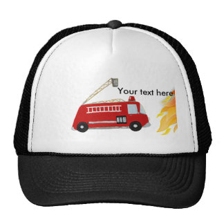 Custom Fire truck with text Hat