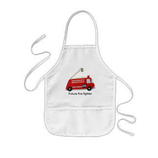 Custom Fire truck with text Kids' Apron
