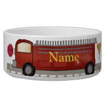 Custom Firefighter Dog Bowl