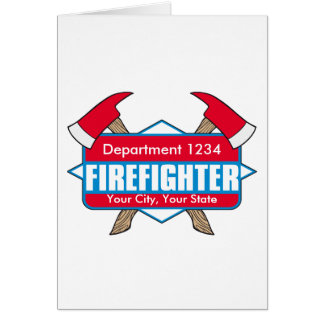 Custom Firefighter with Axes Card