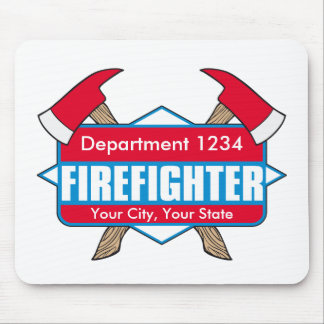 Custom Firefighter with Axes Mouse Pad