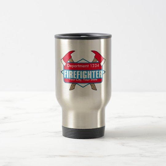 Custom Firefighter with Axes Travel Mug