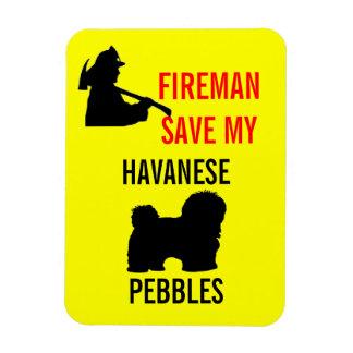Custom Fireman Save My Havanese Fire Safety Vinyl Magnets