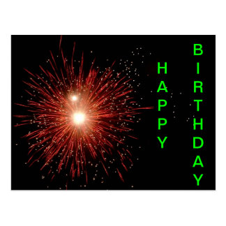 Custom Fireworks Birthday Card
