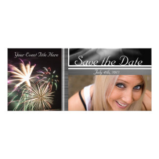 Custom Fireworks Save the Date Announcements